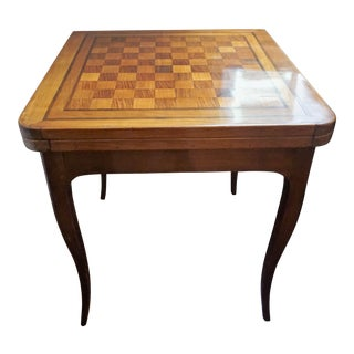 19th Century French Walnut Game Table For Sale