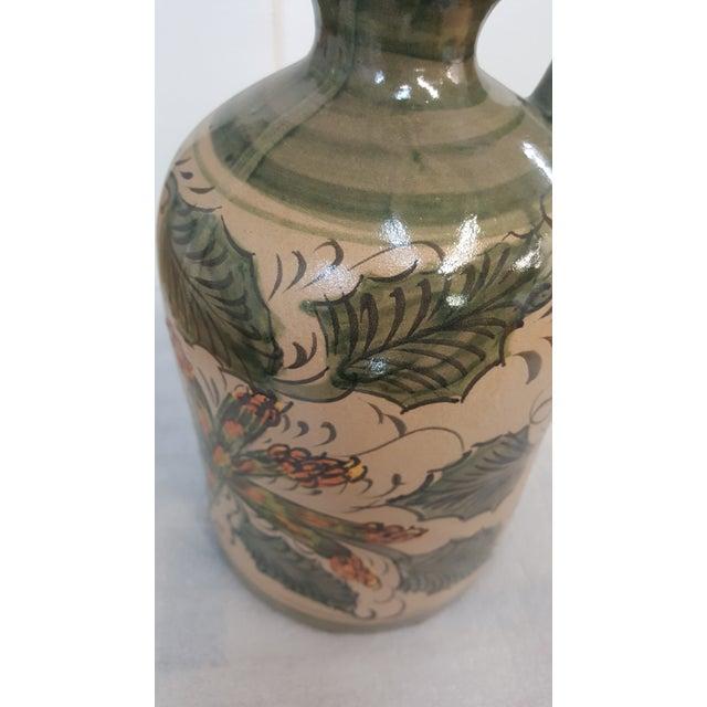 Ceramic Sarreid Leaves and Asparagus Ceramic Painted Pitcher For Sale - Image 7 of 8