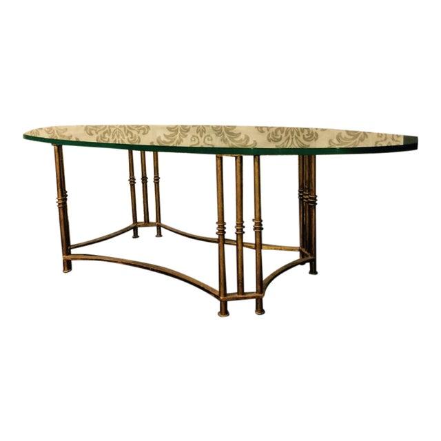 Vintage Gold Metal Glass Coffee Table Chairish