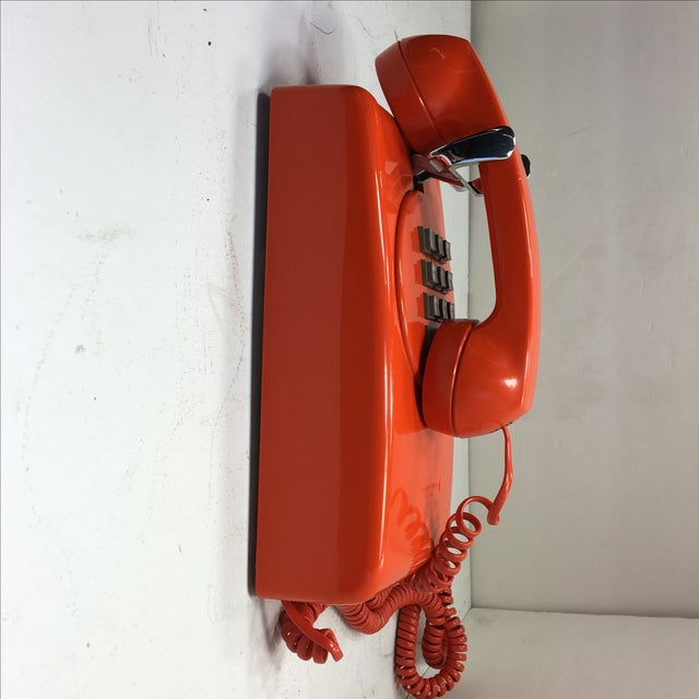 Bright Orange Push Button Wall Phone For Sale - Image 5 of 11