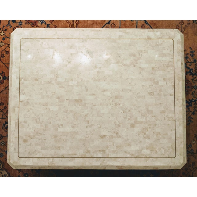 Maitland - Smith Maitland Smith Tesselated Marble (Coral) Coffee Table For Sale - Image 4 of 10