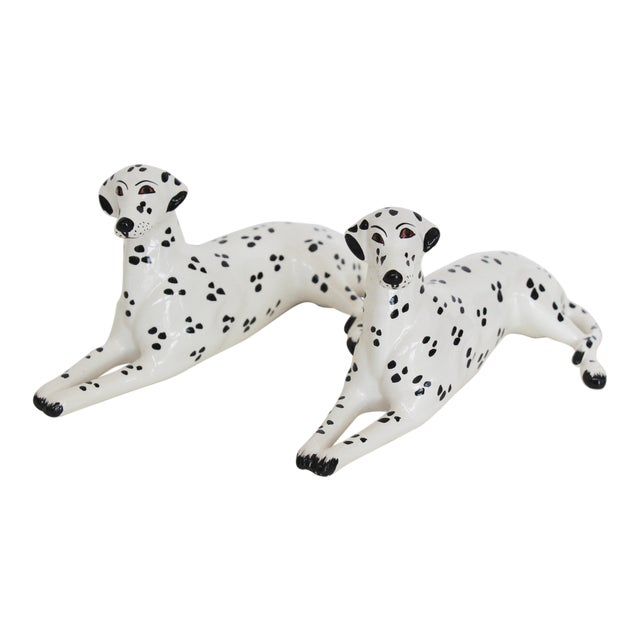 Italian Porcelain Dalmatian Figurines - A Pair - Image 1 of 6