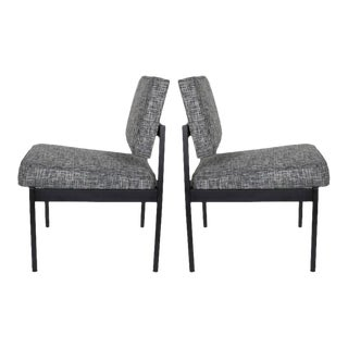 Pair of Mid-Century Modern Knoll Style Industrial Chairs For Sale