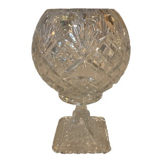 Mid 20th Century Vintage Crystal Compote For Sale