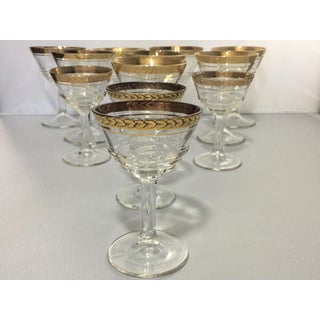 1930s Vintage Federal Glass Optic Pressed Glassware - Set of 12 Preview