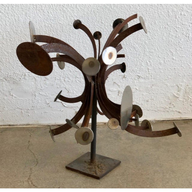 Frank Cota Brutalist Metal Table Sculpture For Sale In Palm Springs - Image 6 of 12