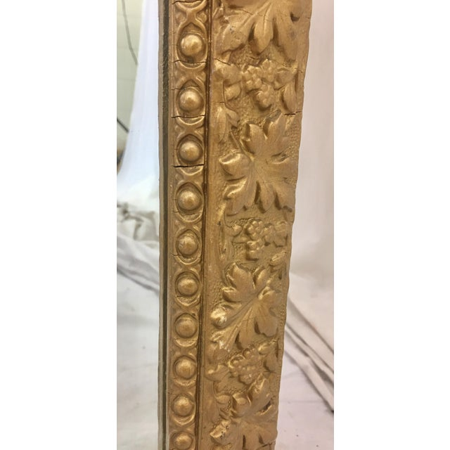 Early 20th Century Antique Gold Giltwood & Gesso Mirror For Sale - Image 5 of 9