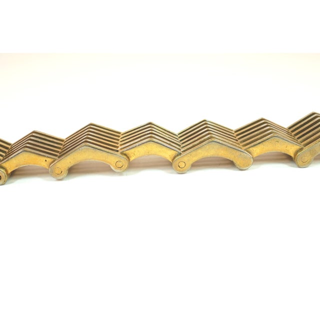 Roger Edet Paris Modernist Architectural Link Bracelet 1940s For Sale - Image 4 of 13
