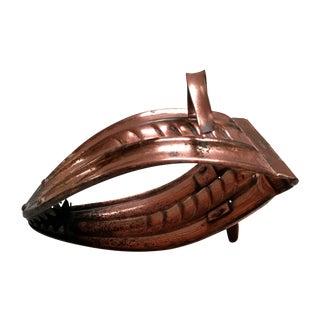 Antique Copper Coal Tongs For Sale