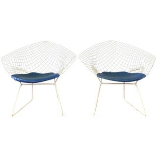 Vintage Harry Bertoia for Knoll Diamond Chairs - A Pair