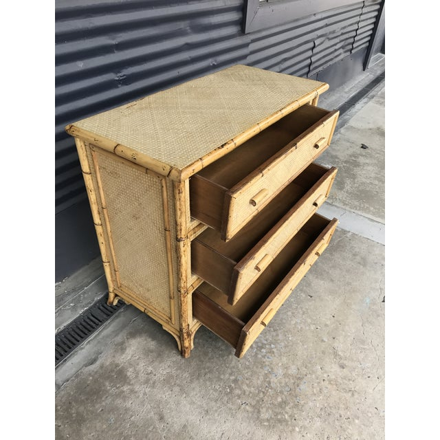 Calif-asia Vintage Rattan Chest of Drawers For Sale In Tampa - Image 6 of 11