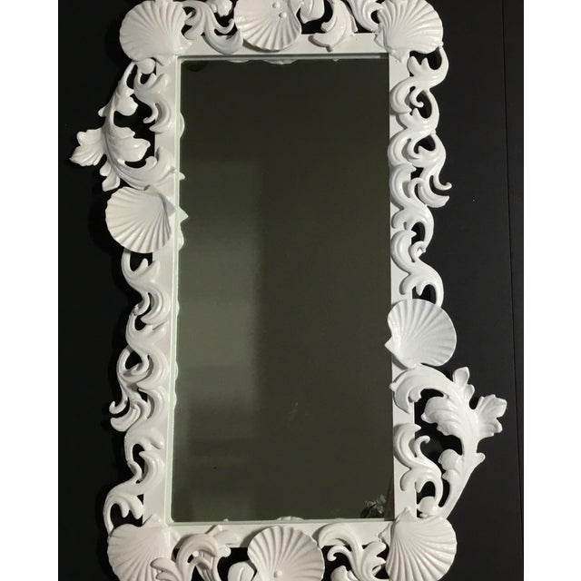 White Sea Shell Mirror For Sale - Image 4 of 10