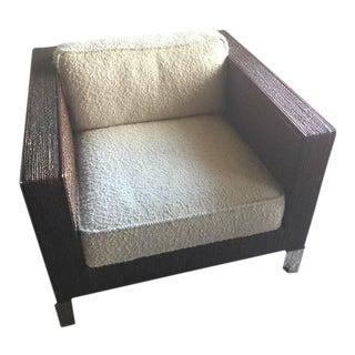 Transitional Palecek Wooden Armchair