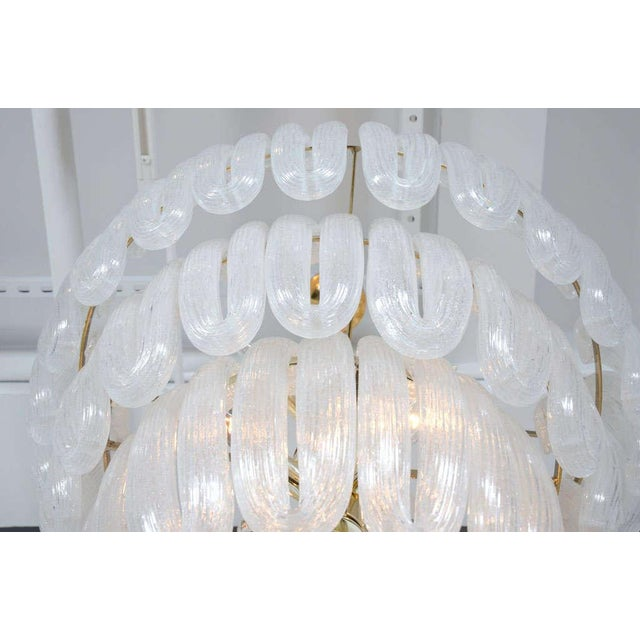 1970s Hand Blown Glass Loop Chandelier after Barovier & Toso For Sale - Image 5 of 10