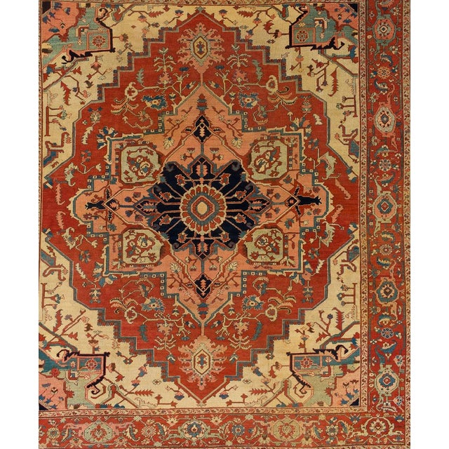 Pasargad's Antique serapi collection is a collection of traditional rugs with updated colors and styling. These rugs are...