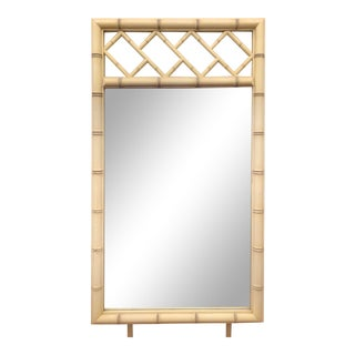 Vintage Dixie Aloha Faux Bamboo Chinese Chippendale Mirror For Sale