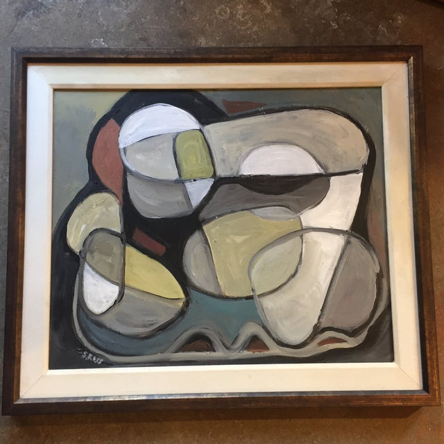 Paint Original Abstract Painting by Stewart Ross For Sale - Image 7 of 7