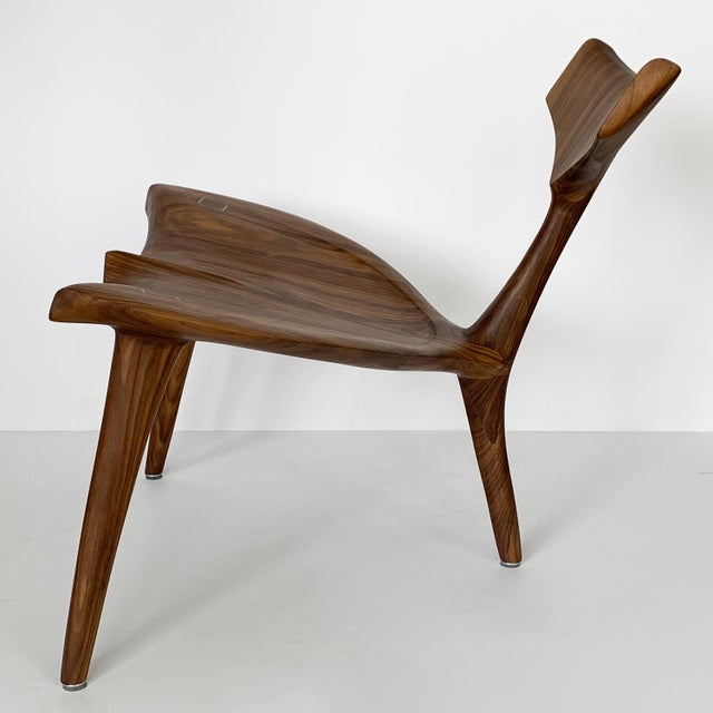 """Not Yet Made - Made To Order Sculptural Walnut """"Whale"""" Chair Morten Stenbaek For Sale - Image 5 of 13"""