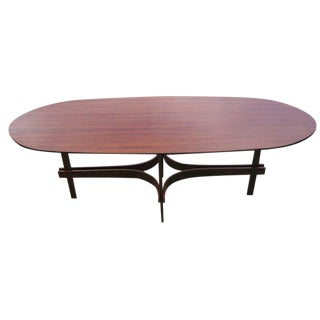 1960s Italian Rosewood Coffee Table For Sale