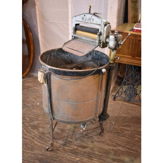 Metal Antique Easy Primitive Copper Wash Tub Wringer Washing Machine For Sale - Image 7 of 7
