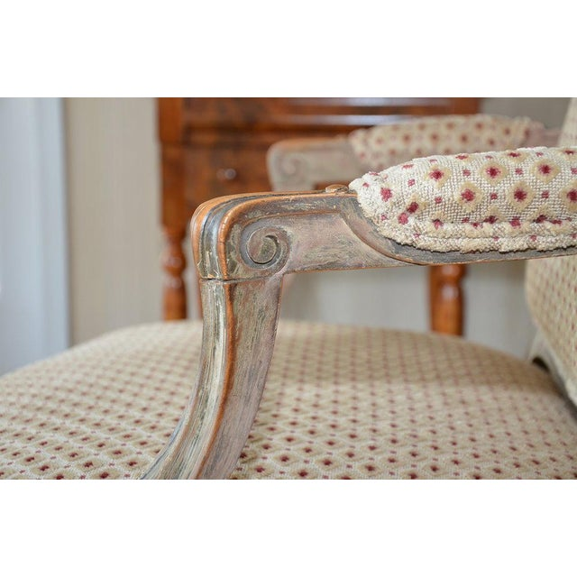 French Upholstered Bergere Chairs- A Pair - Image 8 of 10