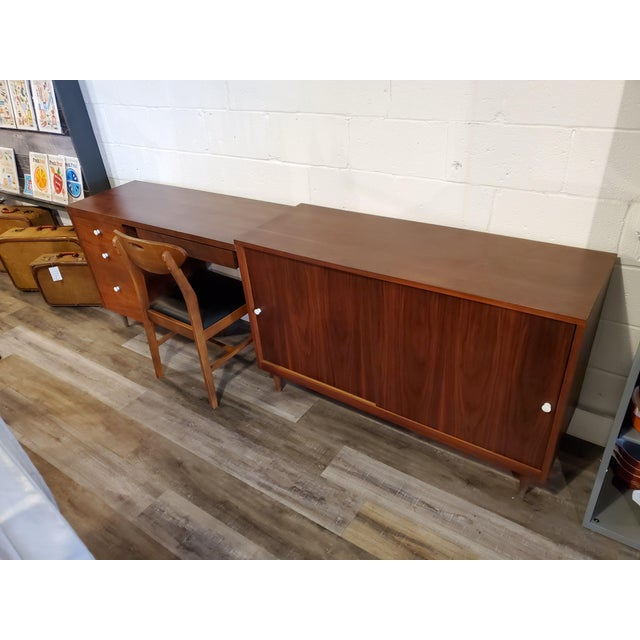 Mid-Century Modern Desk & Credenza - A Pair For Sale - Image 11 of 13