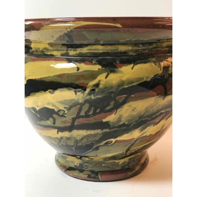 Art Deco Early 20th Century Peters and Reed Glazed Pottery Vase For Sale - Image 3 of 5