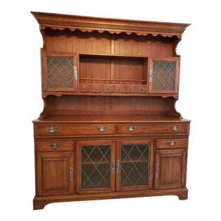 20th Century Early American Pennsylvania House Cherry Hutch For Sale