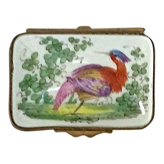 Antique Porcelain Limoges-Style Bird Box