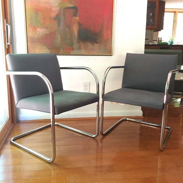 Metal Mies Van Der Rohe for Thonet Brno Chairs - a Pair For Sale - Image 7 of 13