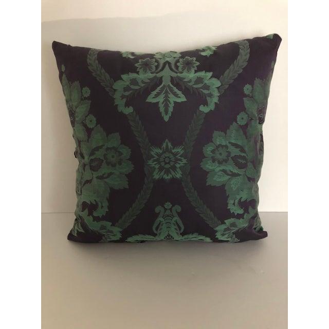 Vintage Damask Pillow For Sale - Image 4 of 5