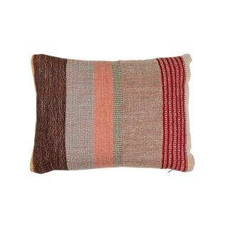 Indian Handwoven Pillow Pastel Stripes Design For Sale