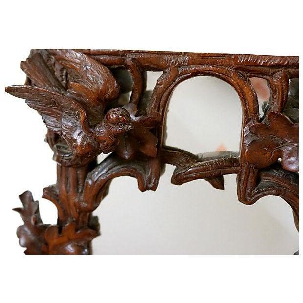 Antique Hand-Carved Black Forest Bureau Mirror - Image 4 of 7