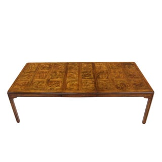 Burwood Walnut Dining Table by Heritage w/ One Extension Leaf Parquet top For Sale