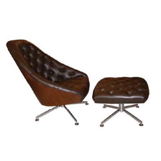 Milo Baughman Chair and Ottoman Set - Image 1 of 5