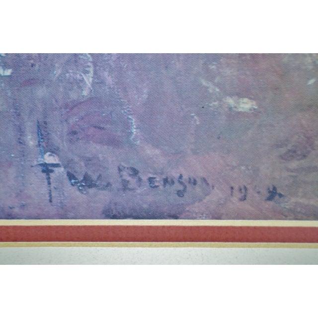 Wood Vintage Framed Frank Weston Benson Summer Seascape Print For Sale - Image 7 of 11