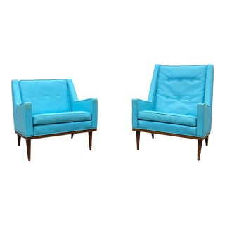 1950s Milo Baughman for James Inc Lounge Chairs - a Pair For Sale