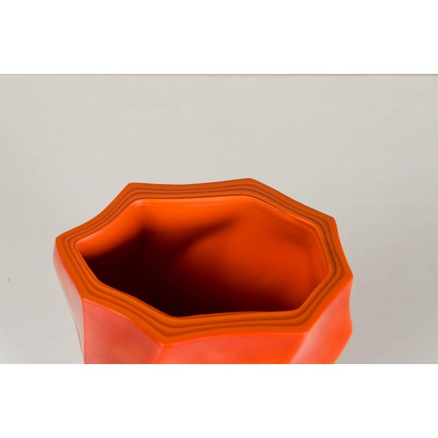 Contemporary Bamboo Shaven Vase by Robert Kuo For Sale - Image 3 of 9