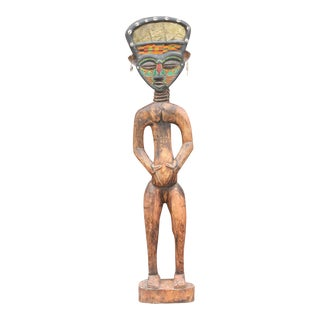 Bamum African Large Tribal Statue For Sale