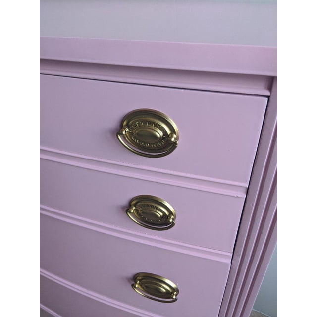 Wood 1960s Vintage Dixie Pink Gloss Dresser For Sale - Image 7 of 9