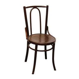 Thonet Wooden Round Seat Side Chair For Sale