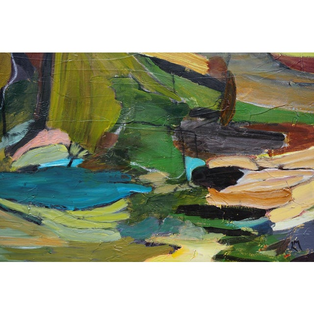 """Laurie MacMillan """"Fractures and Folds"""" Abstract Landscape For Sale - Image 4 of 4"""