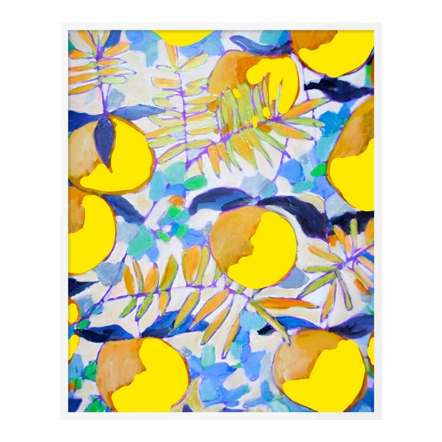 Peaches and Cream 1 by Lulu DK in White Framed Paper, Small Art Print For Sale