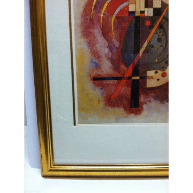 """Mid 20th Century Original """"Abstract Geometric Figures"""" Framed & Matted Print by Wassily Kandinsky For Sale - Image 5 of 8"""