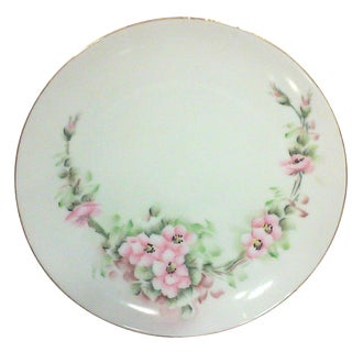 Thomas Bavarian Hand Painted Pink Rose Blossom Cabinet Plate