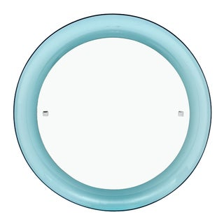 Blue Lucite Vintage Mirror For Sale