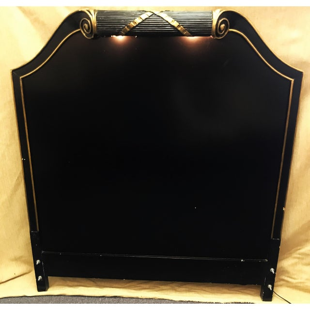 Vintage Art Deco Twin Headboard With Light For Sale In West Palm - Image 6 of 13