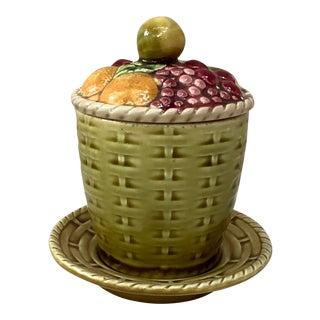 Antique Majolica Fruits Tureen Sarreguemines Circa 1900 For Sale