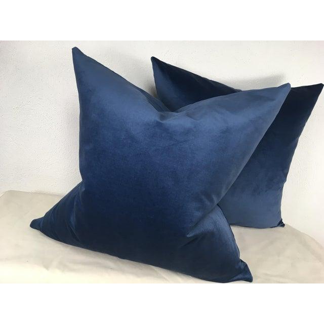 2010s Ralph Lauren Velvet Pillows - A Pair For Sale - Image 5 of 6