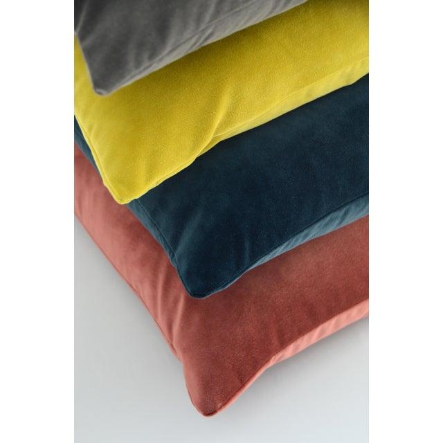 FirmaMenta Italian Rose Salmon Pink Velvet Lumbar Pillow For Sale - Image 4 of 5